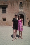 Me and Rachel in front of Castello di Oliveto